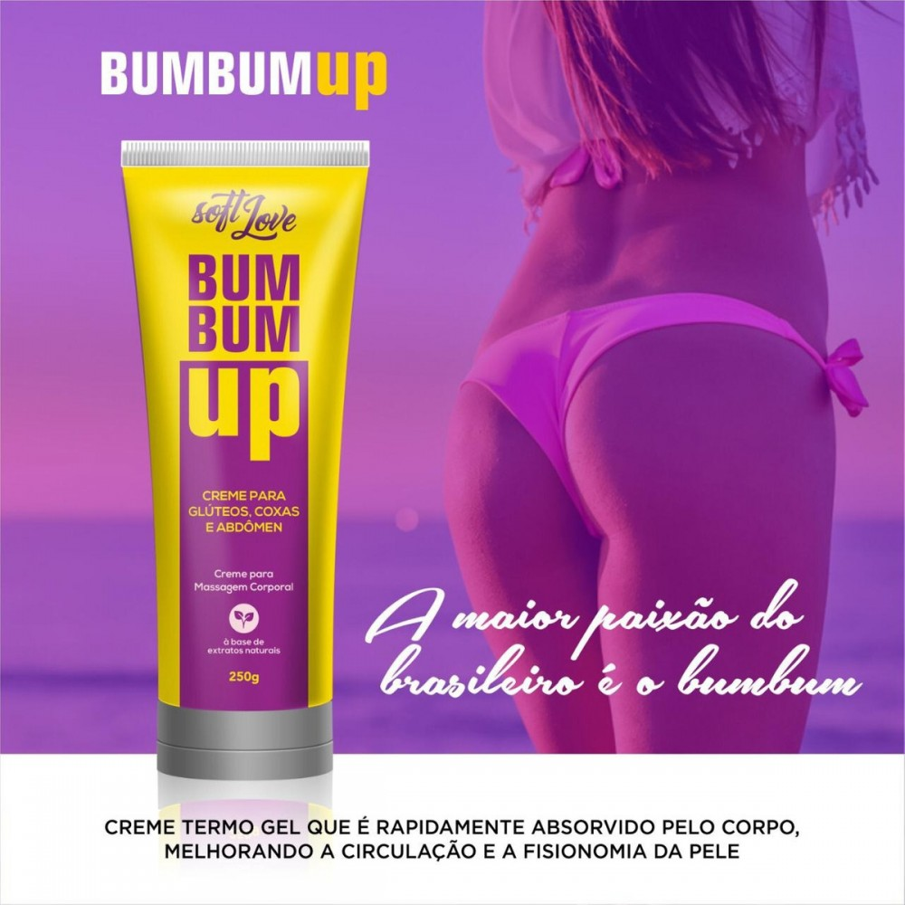 BUMBUM UP CREME FIRMADOR GLÚTEOS 250G SOFT LOVE